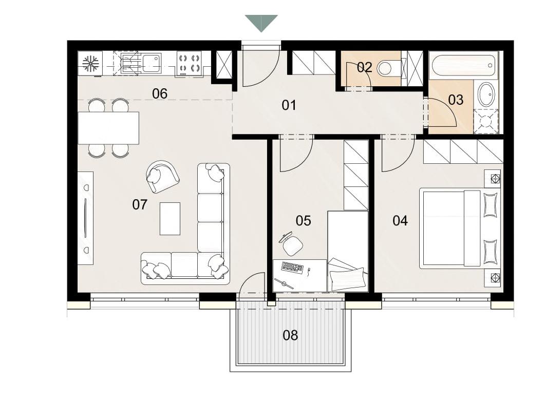 Rosenhaus byt 1002, 3-izbový. Novostavba Vrakuňa.