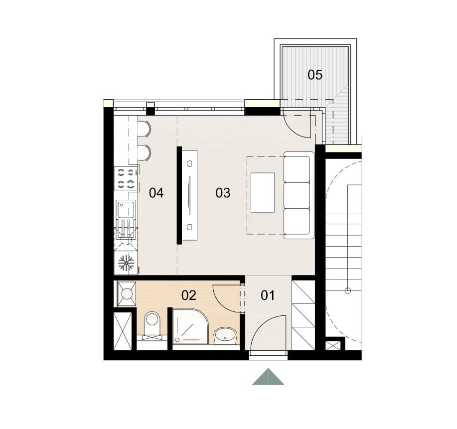 Rosenhaus byt 1009, 1-izbový. Novostavba Vrakuňa.