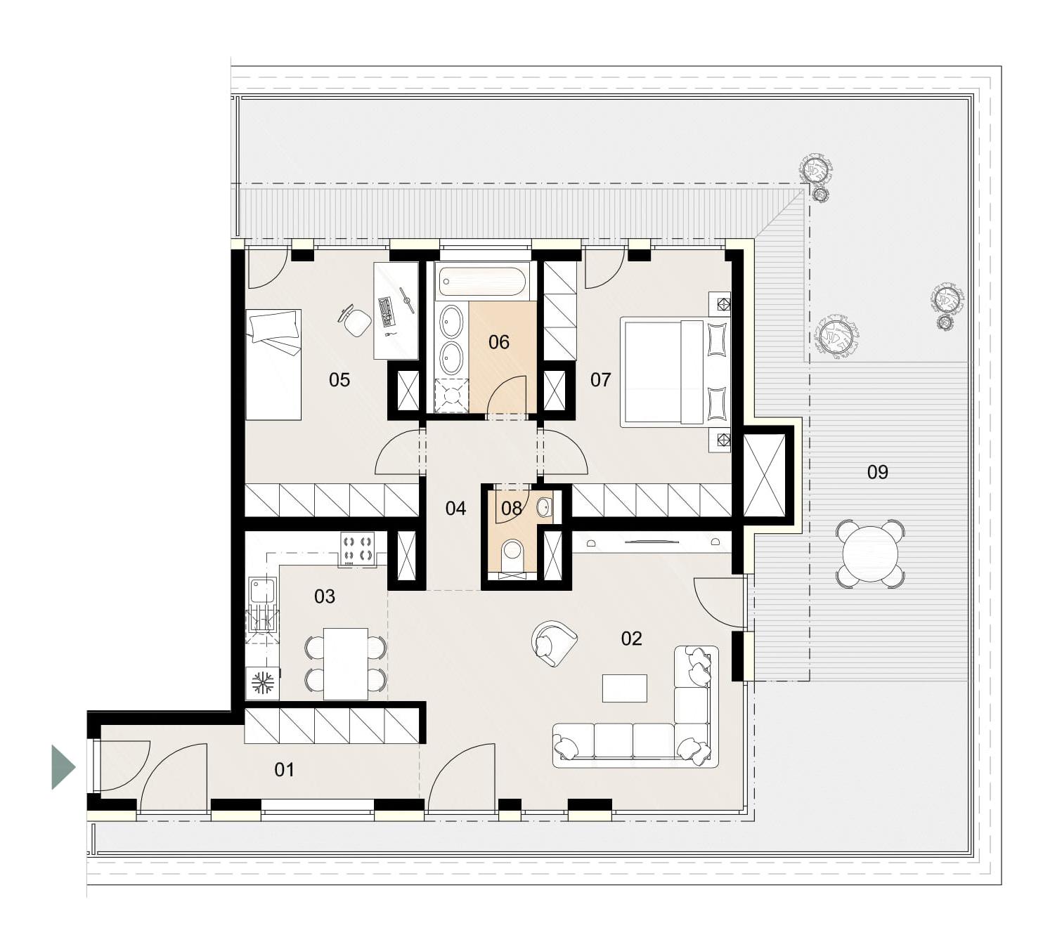 Rosenhaus byt 1101, 3-izbový. Novostavba Vrakuňa.
