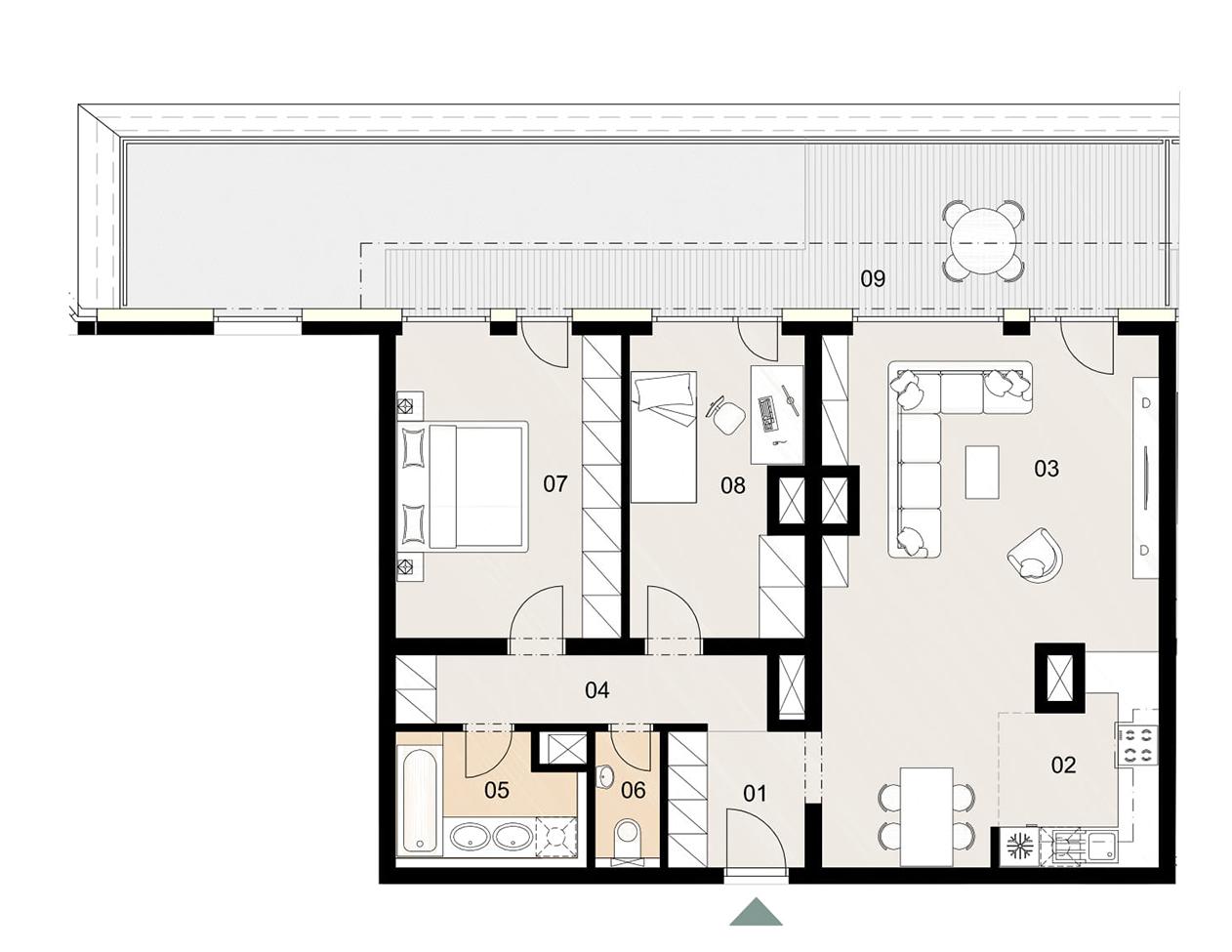 Rosenhaus byt 1102, 3-izbový. Novostavba Vrakuňa.