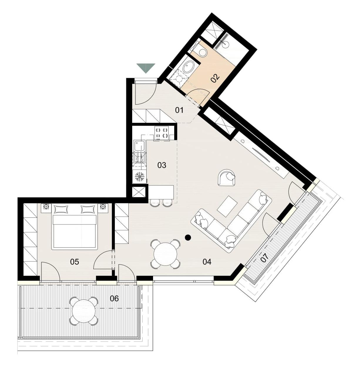 Rosenhaus byt 1103, 2-izbový. Novostavba Vrakuňa.