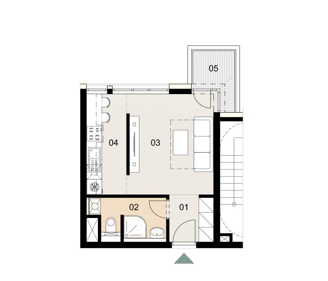 Rosenhaus byt 209, 1-izbový. Novostavba Vrakuňa.