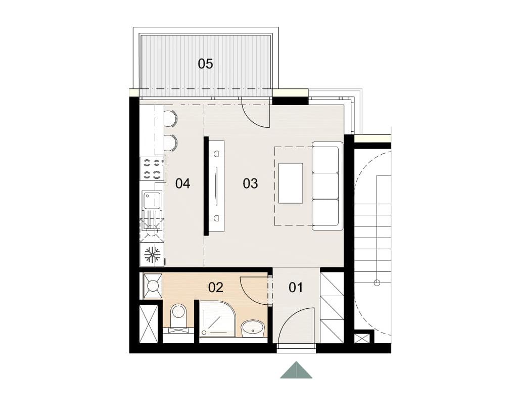 Rosenhaus byt 309, 1-izbový. Novostavba Vrakuňa.