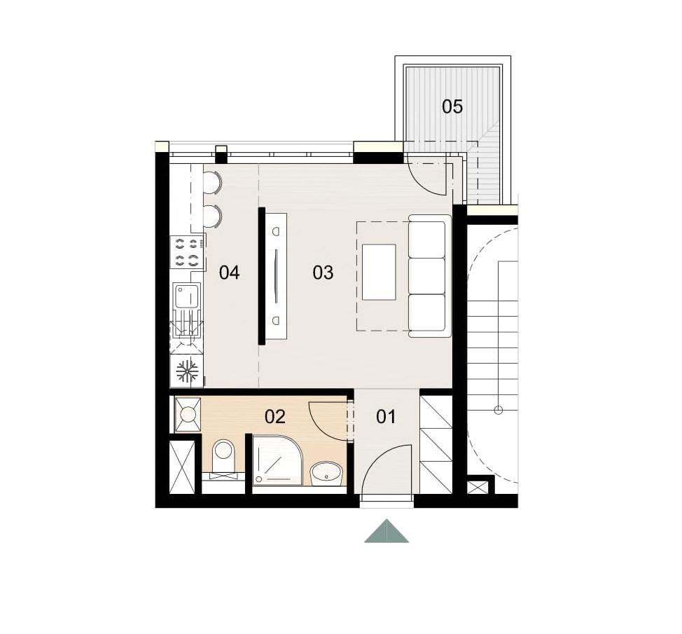 Rosenhaus byt 409, 1-izbový. Novostavba Vrakuňa.
