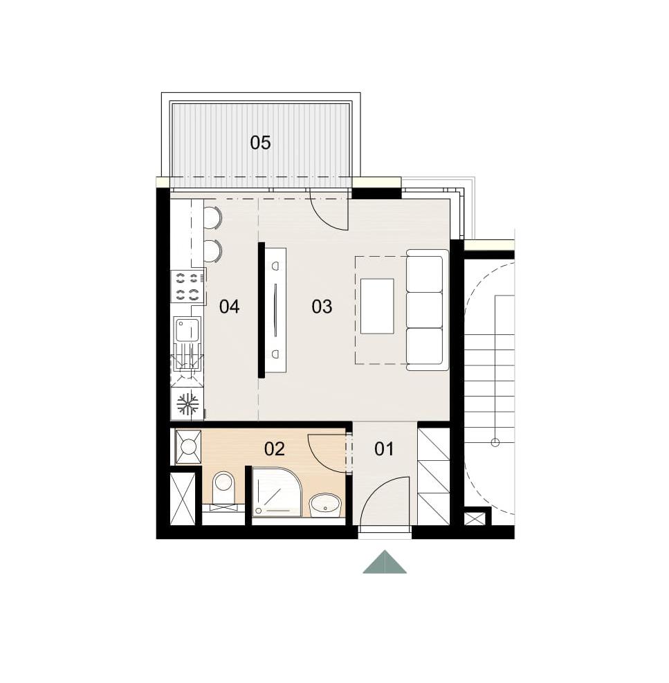 Rosenhaus byt 509, 1-izbový. Novostavba Vrakuňa.