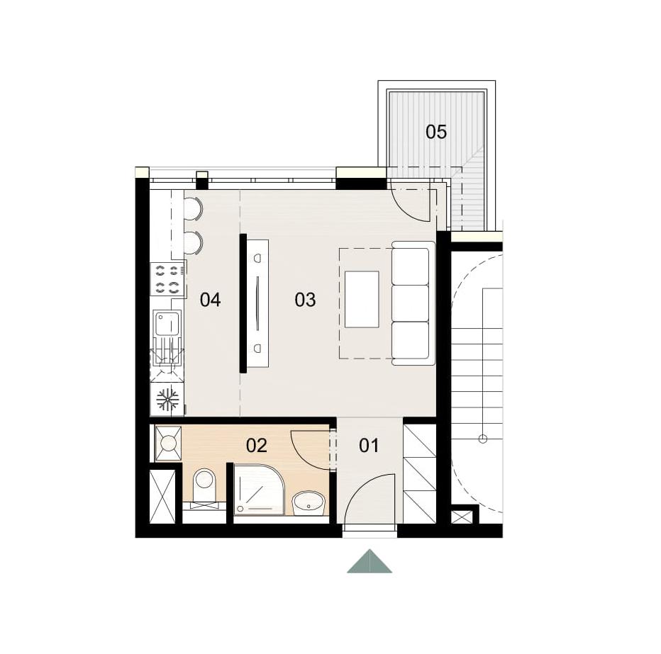 Rosenhaus byt 609, 1-izbový. Novostavba Vrakuňa.
