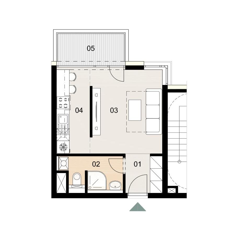Rosenhaus byt 709, 1-izbový. Novostavba Vrakuňa.