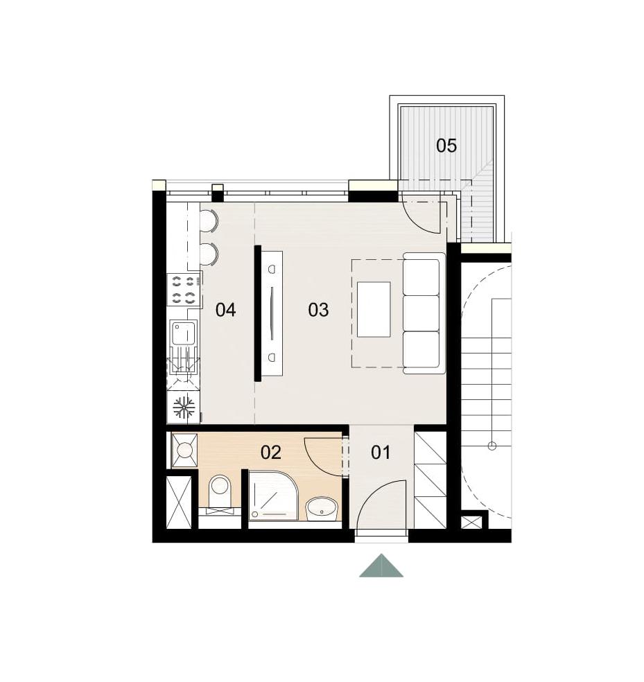 Rosenhaus byt 809, 1-izbový. Novostavba Vrakuňa.