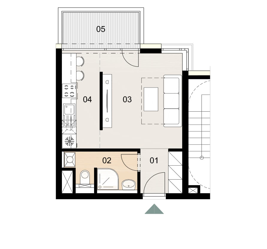 Rosenhaus byt 909, 1-izbový. Novostavba Vrakuňa.