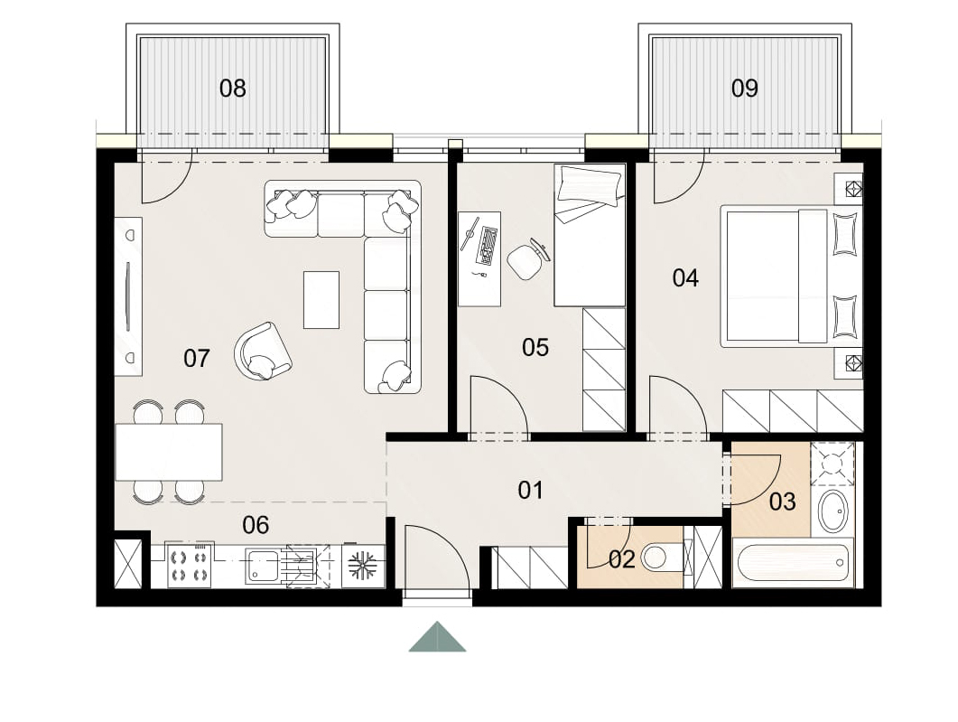 Rosenhaus byt 911, 3-izbový. Novostavba Vrakuňa.